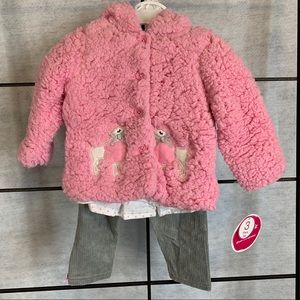 Nannette Kids Baby Girl 3 Piece Outfit. Size 12 Mo